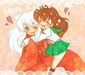 InuKagChibiXD - inuyasha-and-kagome photo