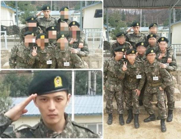 JYJ's Jaejoong spotted in military fotografias