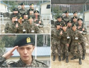 JYJ's Jaejoong spotted in military fotos