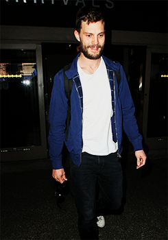 Jamie Dornan spotted arriving at LAX, March 24th.