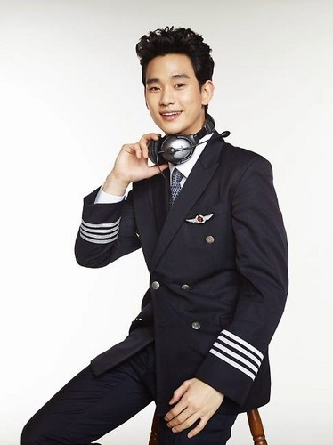 Kim SooHyun wallpaper possibly containing a well dressed person and a pea jacket titled Jeju Air releases the promotional pictorial for their newest face, actor Kim Soo Hyun