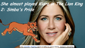 Jennifer Aniston funfact - the-lion-king-2-simbas-pride photo