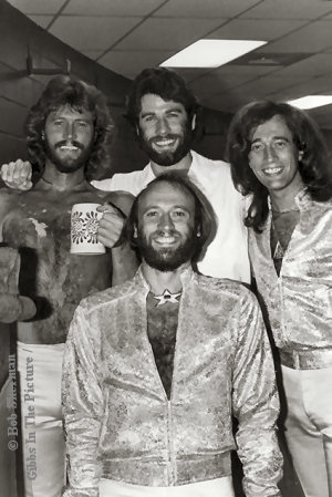 John Travolta and the Bee Gees