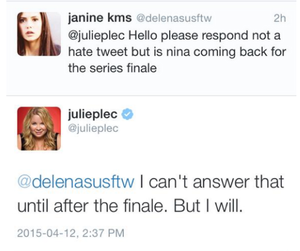 Julie Plec tweet