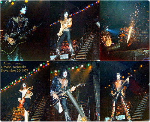 KISS پیپر وال containing a کنسرٹ titled KISS Alive II Tour…Omaha, Nebraska ~November 30, 1977
