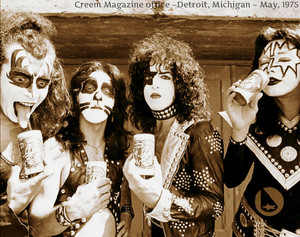 KISS…Creem Magazine office ~Detroit, Michigan ~ May, 1975