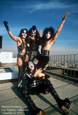 KISS…Playboy Building…Los Angeles, California ~January 16, 1975