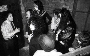 KISS with Neil Bogart and Bill Aucoin ~March 21, 1975...Beacon Theatre Backstage NYC
