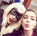 Katie Cassidy and Emily Bett Rickards
