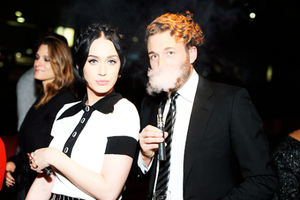 Katy at Karl Lagerfeld's Chanel boot Party