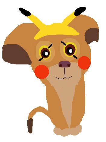 Kiara dressed as a Pikachu