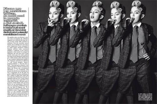 Madonna wolpeyper called L'Uomo Vogue 2014