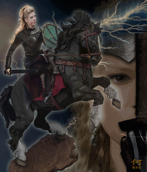 Lagertha on Horse Back