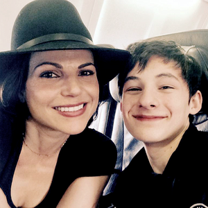 Lana Parrilla and Jared Gilmore