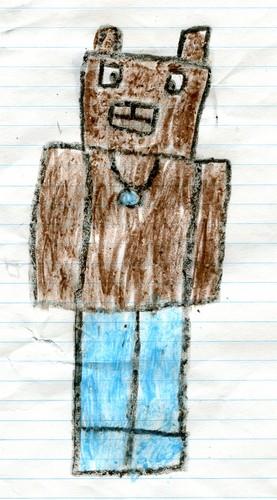 Stampylongnose Hintergrund entitled Lei-bear in crayon