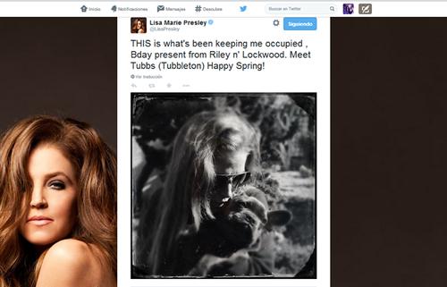 lisa marie presley wallpaper titled Lisa tweet