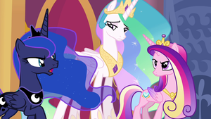 Luna, Celestia, and Cadance