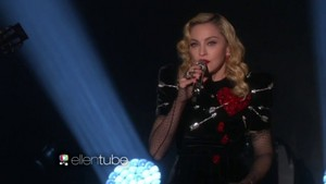 "Madonna performing on Ellen ""Joan of arc"""
