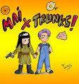 Mai X Trunks - dragon-ball-females fan art