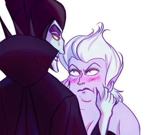 Disney Villains karatasi la kupamba ukuta entitled Maleficent \ Ursula