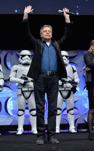 Mark Hamill aka Luke Skywalker at The estrela Wars Celebration