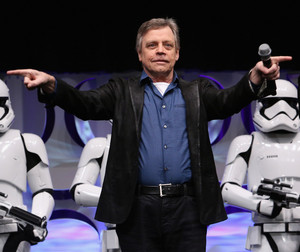 Mark Hamill aka Luke Skywalker at The तारा, स्टार Wars Celebration