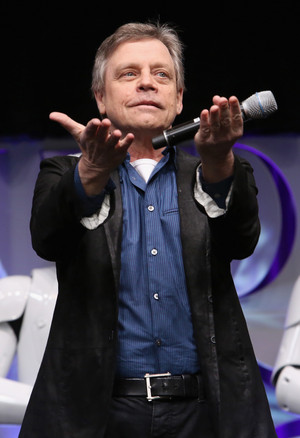 Mark Hamill aka Luke Skywalker at The star, sterne Wars Celebration
