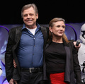 Mark Hamill and Carrie Fisher aka Luke Skywalker and Leia Organa at The 星, 星级 Wars Celebration