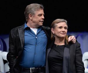 Mark Hamill and Carrie Fisher aka Luke Skywalker and Leia Organa