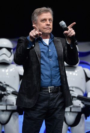 Mark Hamill and Stormtroopers at The 星, つ星 Wars Celebration