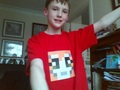 Me with my stampy t-shirt on