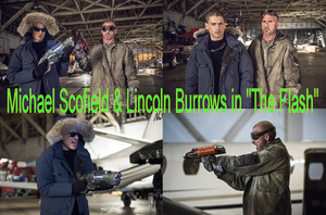 "Michael Scofield and لنکن Burrows in ""The Flash"""