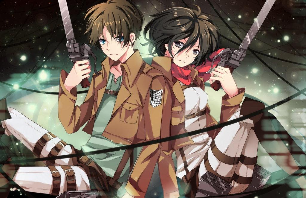 Mikasa Ackerman and Eren Jaeger