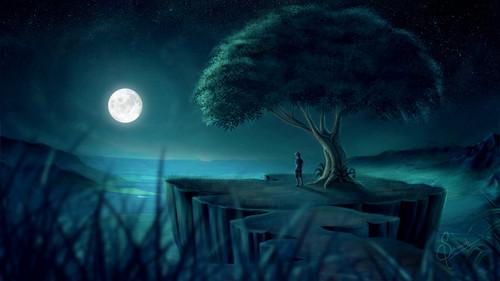 Adventure Time - Abenteuerzeit mit Finn & Jake Hintergrund probably containing a resort titled Moonlight Valley