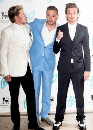Niall, Liam & Louis at the Great Gatsby Ball in Suppot Of Trekstock!
