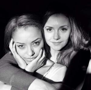 Nina Dobrev and Kat Graham