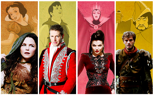 once upon a time wallpaper probably containing a blusa and a vestuário titled OUAT and disney Characters