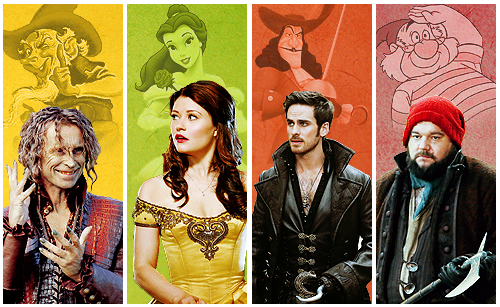 Once Upon A Time fond d'écran probably with a well dressed person titled OUAT and Disney Characters