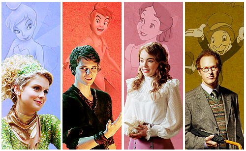 Once Upon A Time kertas dinding probably with a bridesmaid and a business suit called OUAT and Disney Characters