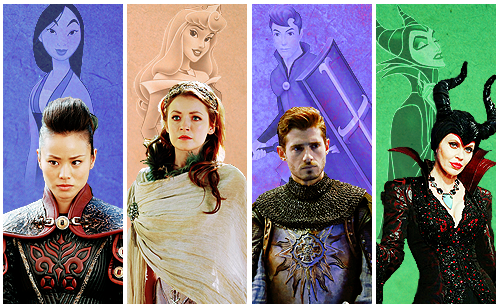 Once Upon A Time karatasi la kupamba ukuta entitled OUAT and Disney Characters