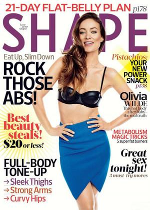 Olivia Wilde on the Cover of Shape Magazine