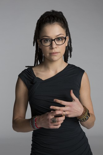 orphan black wallpaper possibly with a playsuit, macacão and a topo, início titled Orphan Black Cosima Niehaus Season 3 Official Picture