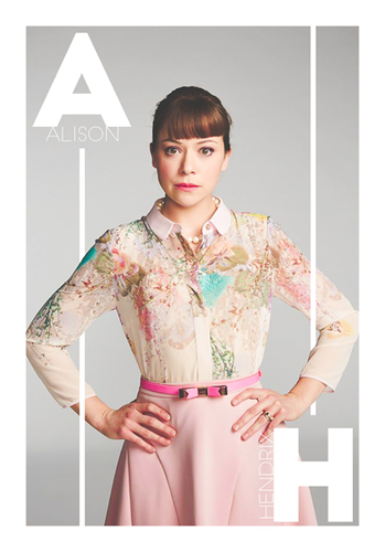 オーファン・ブラック 暴走遺伝子 壁紙 probably with a portrait called Orphan Black Season 3 Alison Hendrix promotional picture