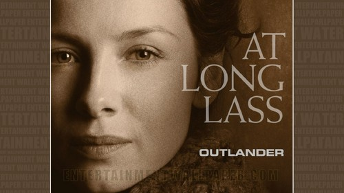 Outlander 2014 TV Series karatasi la kupamba ukuta possibly containing a sign and a portrait titled Outlander karatasi la kupamba ukuta