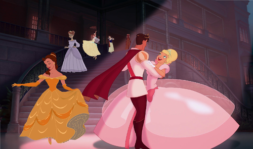 disney crossover wallpaper titled Princesses On Parade