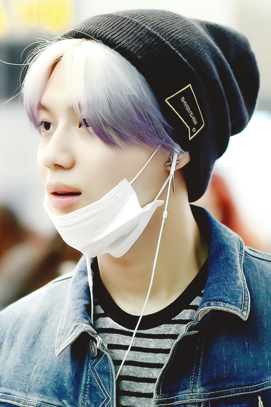 I Personally Loved Taemins Gradient Purple Silver Hair