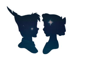 Peter and Wendy, and the سیکنڈ سٹار, ستارہ to the right