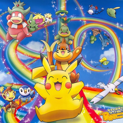 Pokémon wallpaper containing Anime entitled Pikachu and Friends having fun