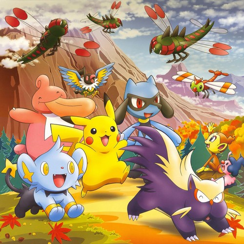 pokemon wallpaper possibly containing anime entitled pikachu and friends in the Fall
