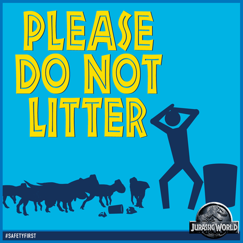 Jurassic Park kertas dinding with Anime titled Please do not litter